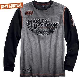 Harley-Davidson Official Men's Iron Block Pullover, Grey