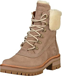 c63e3716d7b Timberland Women's Courmayeur Valley A1SA8 Shearling Lined Boot Taupe Grey