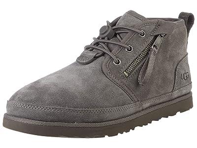UGG Kids SINGLE SHOE Neumel Dual Zip Boot (Charcoal) Boys Shoes