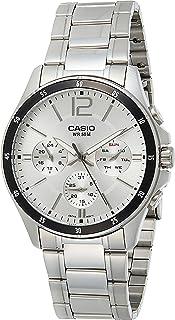 Casio MTP1374D-7AV Watch For Men Standard Metal Band Multi-Function Silver Dial