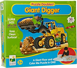 The Learning Journey Giant Digger 2 in 1 Floor Color Puzzle