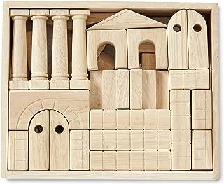 Melissa & Doug Architectural Unit Blocks (44 Building Blocks in 11 Shapes, Solid Wood)