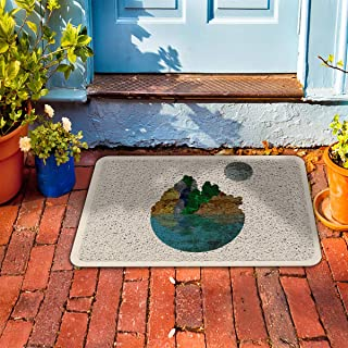 "Prime Leader Indoor Outdoor Doormat Marble Landscape Oil Painting 24"" x 36"" Dirt Trapper Mats with Rubber Backing for Front/Back Door&High Traffic Area Easy Clean"