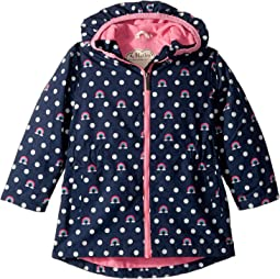Dots and Rainbows Microfiber Rain Jacket (Toddler/Little Kids/Big Kids)