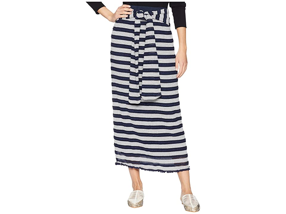 MOON RIVER Long Skirt (Navy/Ivory) Women