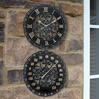 Best outdoor clock and thermometer set Reviews