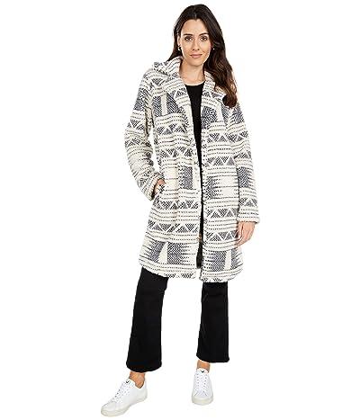 Billabong Montreal Longline Fleece Jacket (White/Black) Women