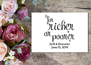for richer for poorer envelopes