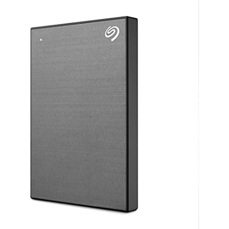Seagate One Touch 2To, Disque dur externe HDD – Space Gray, USB3.0, pour PC portable et Mac, 4 mois de Adobe CC, et services Rescue valables 2 ans, Amazon Exclusive (STKB2000404)