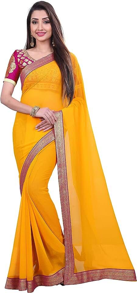 Indian Anand Sarees Chiffon with Blouse Piece Saree Saree