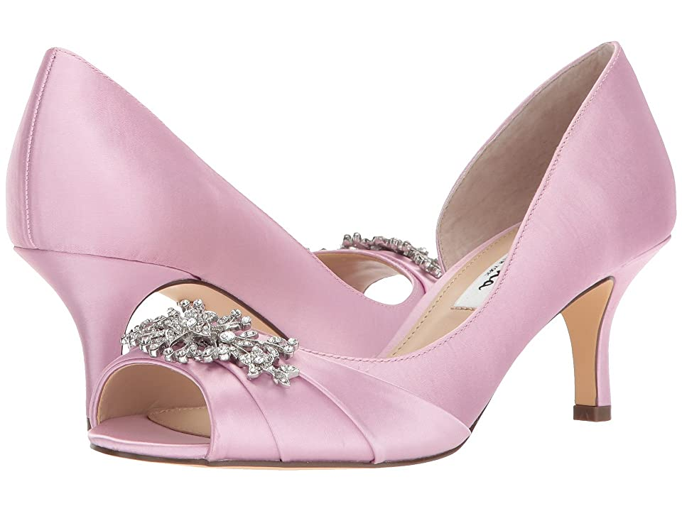 Nina Cyrene (Lilac Crystal Satin) High Heels