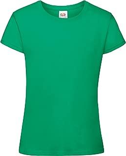 Big Girls Sofspun Short Sleeve T-Shirt (7-8) (Kelly Green)