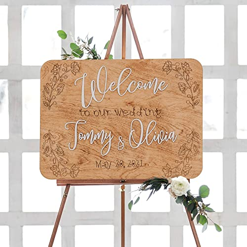 lowest Wooden outlet online sale Wedding Welcome new arrival Sign, Personalized Ceremony Sign, Rustic Wedding Decor online