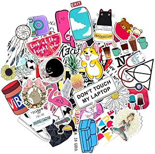 Stickers for Water Bottles Big 50-Pack Cute,Waterproof,Aesthetic,Trendy Stickers for Teens,Girls Perfect for Hydro Flask,Laptop,Phone,Travel Extra Durable 100% Vinyl