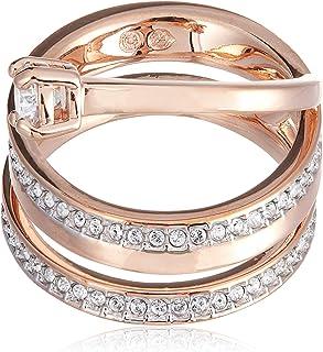 Swarovski Fresh Rose Gold Crystal Fashion Ring - Size 17.3 mm