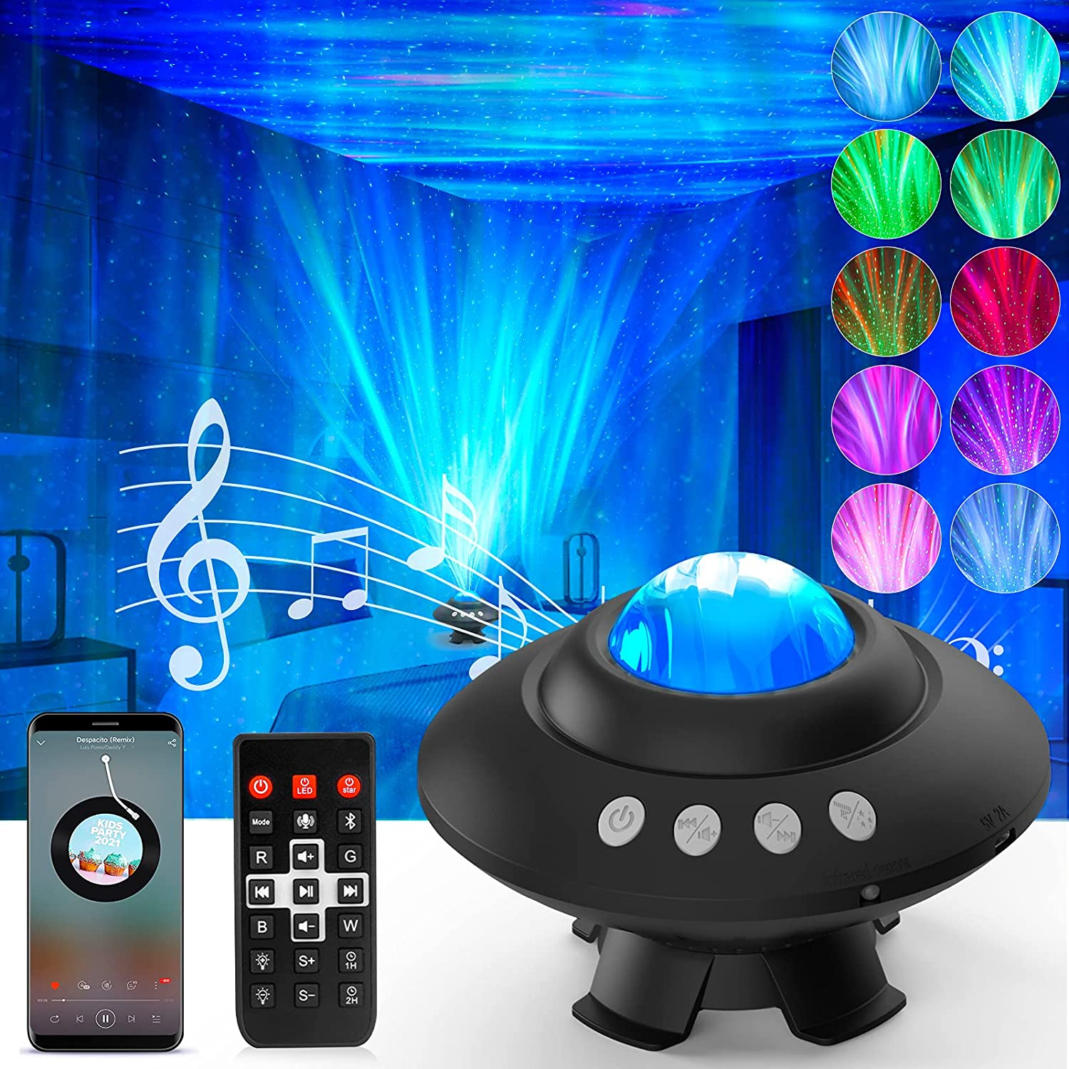 Be super welcome Star Projector Galaxy Max 88% OFF Bedro Light for