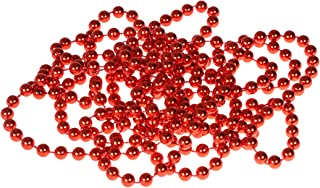 Clever Creations Red Bead Style Christmas Garland Shiny 8mm Shatterproof Bead Garland | Classic Traditional Christmas Theme | Festive Holiday Décor | Measures 2.7m (9') Long