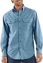 Carhartt Men's Big & Tall Fort Long Sleeve Shirt Lightweight Chambray Button Front Relaxed Fit S202