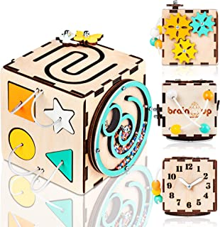 BrainUpToys - Busy Cube - Activity Cube Toddlers - Sensory Board - Busy Cube for Kids - Boy and Girl 12-18 Month - Baby Travel Toy - Developmental Toy for Children - Playing Montessori Cube