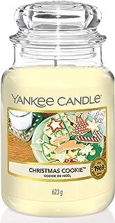 Yankee Candle Vela en un Vaso Doze, Dulces de Navidad, Blanco, Frasco Grande