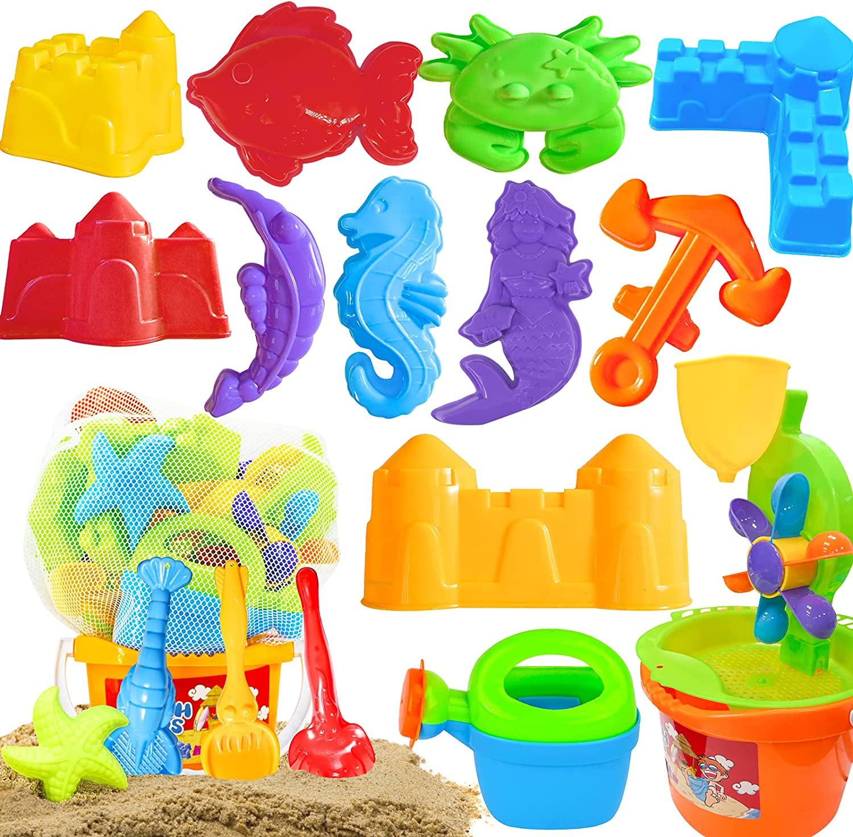 Scientoy Beach Toys 19 Pcs Summer Set Max 68% OFF Sandbo Sand Bargain sale Outdoor