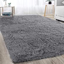 Soft Modern Indoor Large Shaggy Rug for Bedroom Livingroom Dorm Kids Room Home Decorative, Non-slip Plush Fluffy Furry Fur...