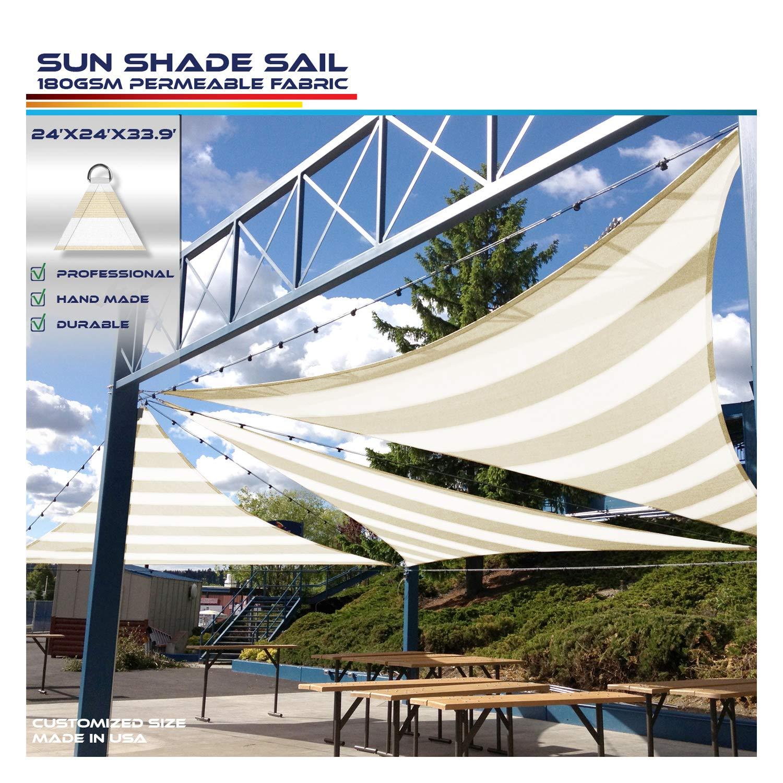 Windscreen4less - Toldo de Refugio para Patio o Patio al Aire Libre, tamaño Personalizado, triángulo