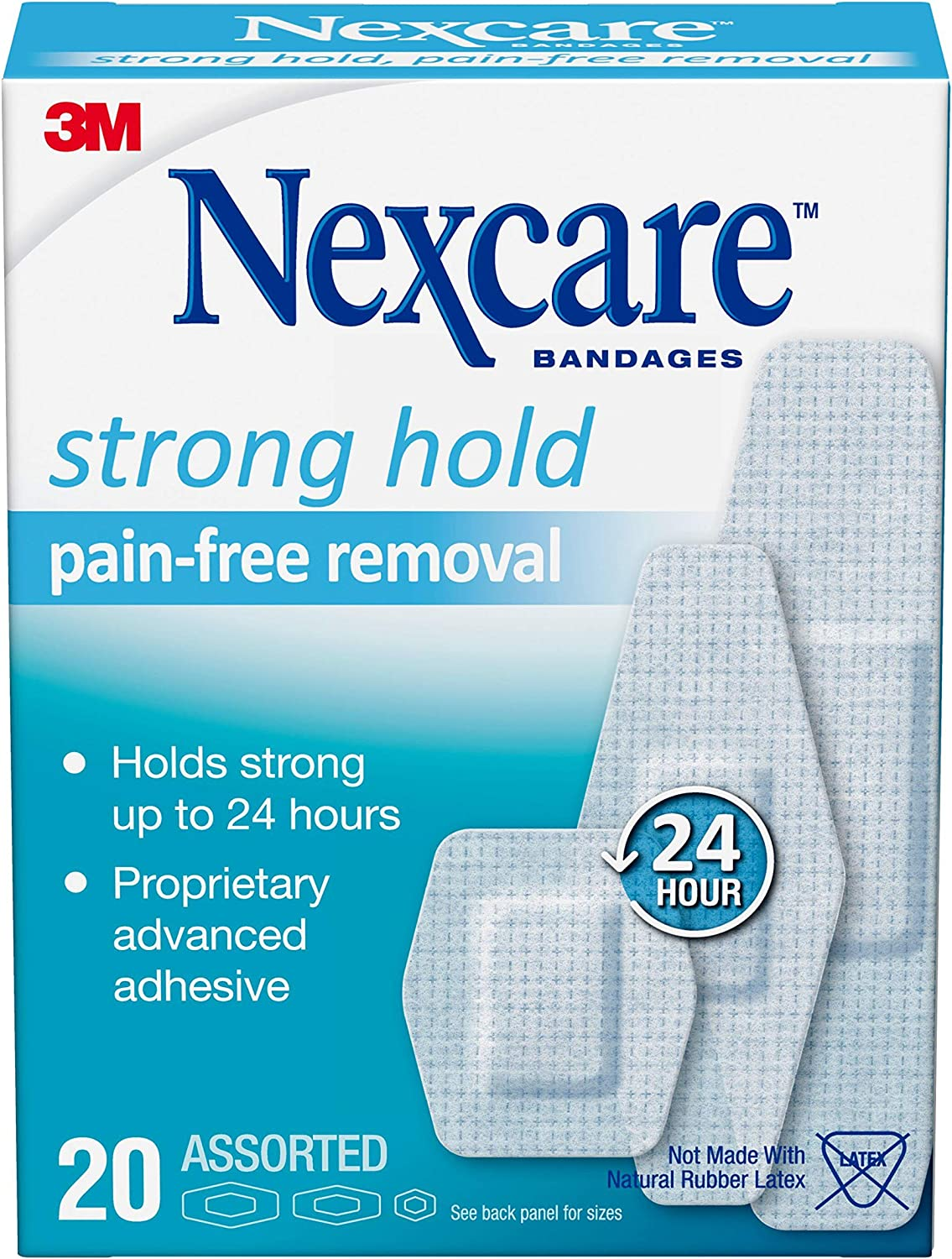Nexcare Sensitive Skin Bandages Assorted Count Bo 20 WEB限定 激安超特価 Sizes Per