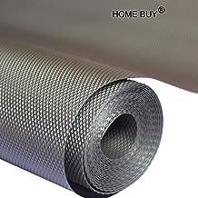 Home Buy PVC Useful and Multipurpose Full Length Anti Slip Grip, Liner, Skid Resistant Mat (Grey, 5 m)