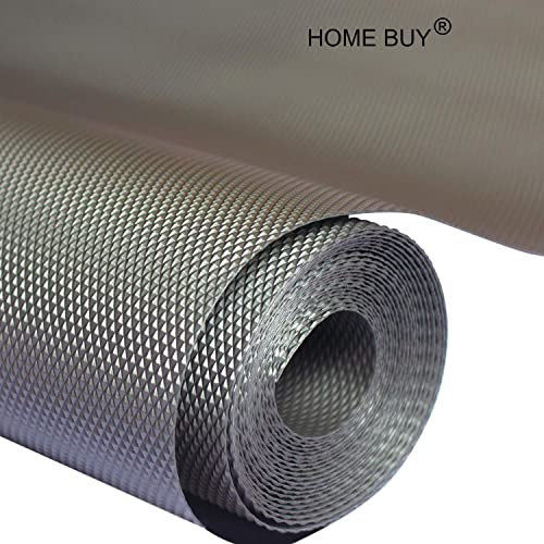 Home Buy PVC Useful and Multipurpose Full Length Anti Slip Grip, Liner, Skid Resistant Mat (Grey, 5 m)