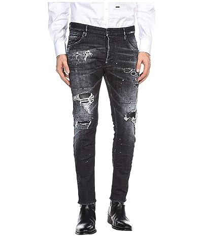 DSQUARED2 Ripped Wash Skater Jeans in Black (Black) Men