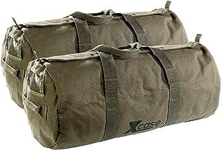 Xcase Taschen: 2er-Set Canvas-Sport- und Reisetaschen mit Tragegriff, je 70 Liter (Reisetasche Canvas XL)