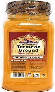 Rani Turmeric (Haldi) Root Powder Spice, (High Curcumin Content) 32oz (2lbs) Bulk ~ All Natural | 100% Pure, Salt Free | Vegan | Gluten Friendly Ingredients | NON-GMO | Indian Origin