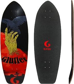 Glutier Surfskate Deck Zombie Hand 31 Surf Skate S...