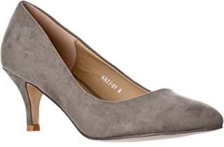 Women's Katy Pointed, Closed Toe Low, Kitten Heel Pumps