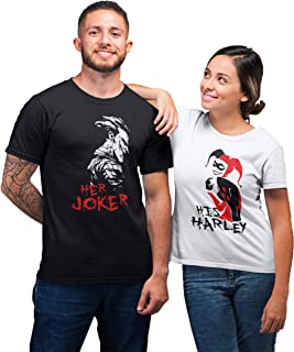 Joker and Harley Quinn Couple Shirts - Matching The Joker and Queen Outfits - King and Queen Hoodies