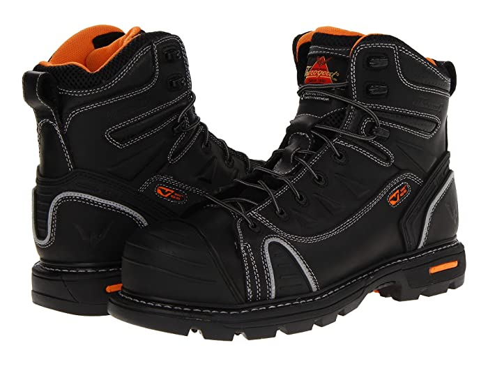 Thorogood  6 Lace To Toe (Black Oiled) Mens Work Boots