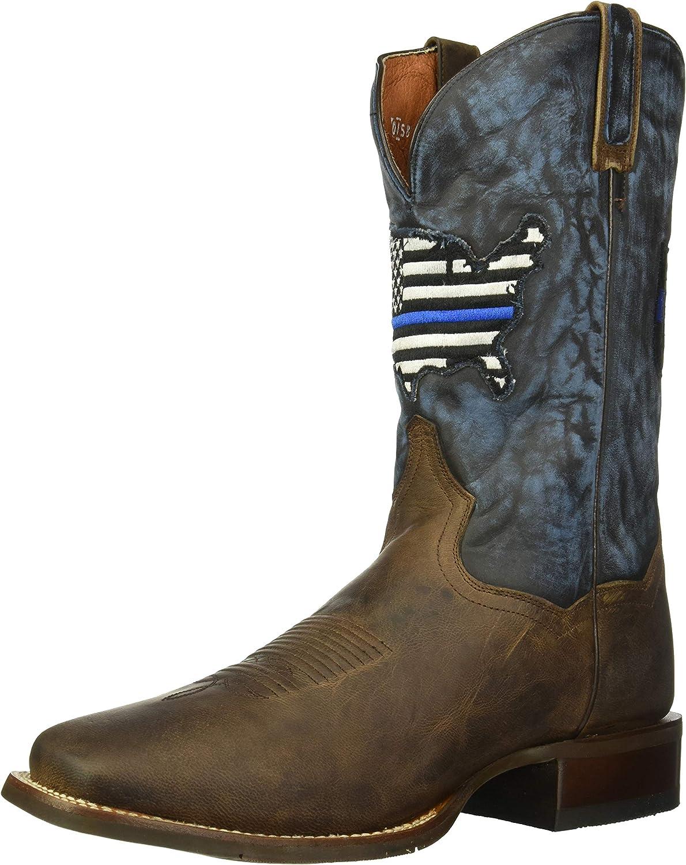 Dan Post Boots Mens Thin Blue Line Calf Toe Ranking Max 63% OFF TOP1 Square Mid B -