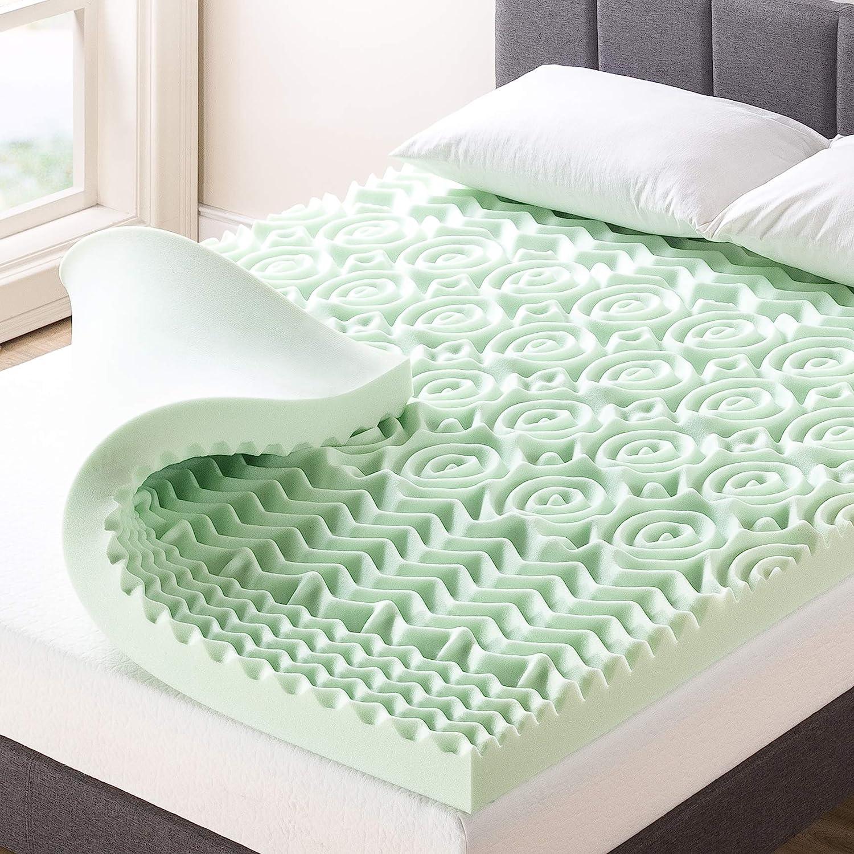 Best Price Mattress 4 Inch Topper 4 years warranty OFFicial store wi 5-Zone Foam Memory