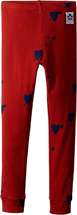 mini rodini - Heart Rib Leggings (Infant/Toddler/Little Kids/Big Kids)