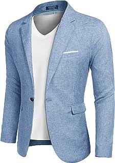 COOFANDY Men's sports coats, casual blazer jackets, leisure suit, light jackets, one button