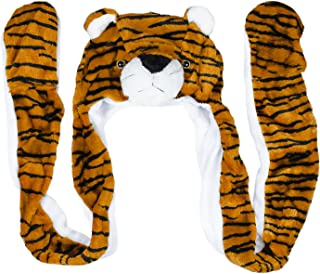 Super Z Outlet Tiger Cute Plush Animal Winter Ski Hat Beanie Aviator Style Winter (Long)