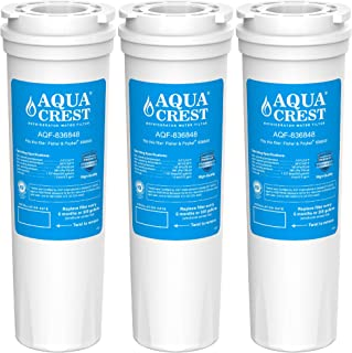 AQUACREST 836848 Refrigerator Water Filter, Replacement for Fisher & Paykel 836848, 836860, E522B, PS2067635, RF90A180DU, EFF-6017A, E402B, E442B, SUPCO WF296, RF135B, RF170A, RF201A (3 Pack)
