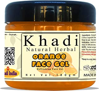 Khadi Natural Herbal Refreshing Orange Face Gel Moisturiser 180gm (Pack Of 1)