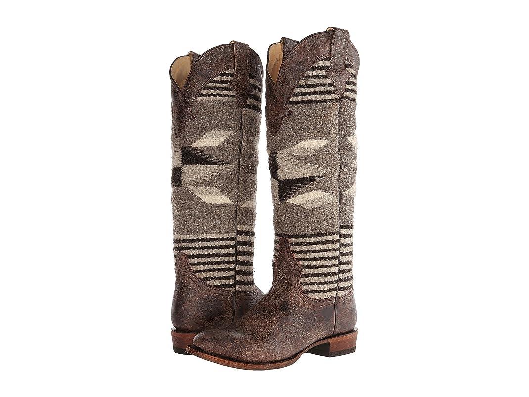 買う雄大な遊びます[ステットソン] Stetson レディース Serape Round Toe Boot ロングブーツ Brown US8.5 - B - Medium [並行輸入品]