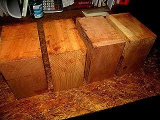 Four Kiln Dried Black CherryWoodBowl Blanks Lathe Turning Block 6 x 6 x 3