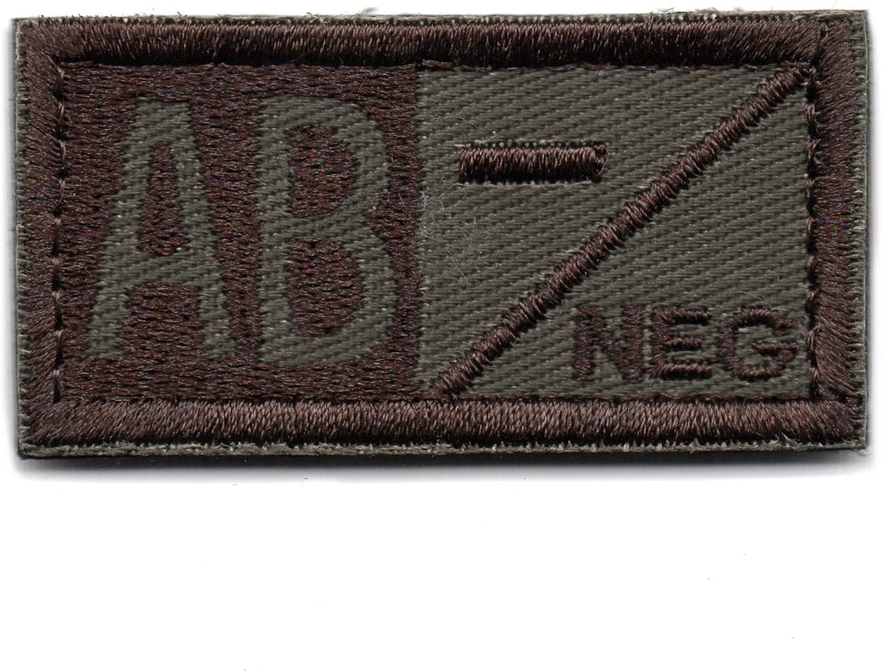 Outlet sale feature Tactical Blood Type AB- Negative NEG Loop Embroid and discount Patch Hook