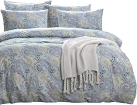 SexyTown Blue Duvet Quilt Cover Set Paisley Regal Themed Bed Sets Queen Wrinkle Free