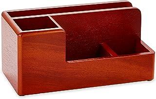 Rolodex 1734648 An Elegant Warm Metropolitan Look. Desk Organizer, Mahogany