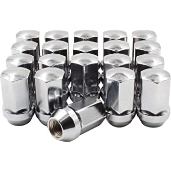 Buyer Needs to Review The spec 20pcs 2.32 Chrome 9//16-18 Wheel Lug Nuts fit 1997 Dodge Ram 3500 May Fit OEM Rims